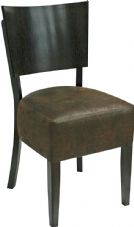 Becky Wooden Side Chair with Upholstered Seat & Wedge Shaped Back
